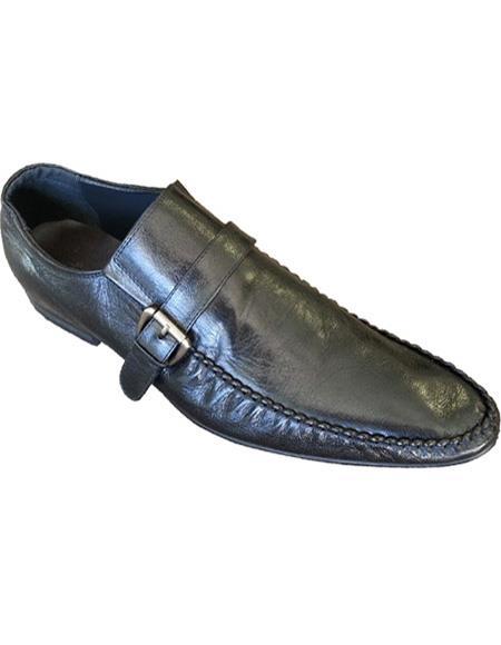 Men's Soft Genuine leather Slip On Black Cushioned Insole Unique Zota Men's Dress Shoe