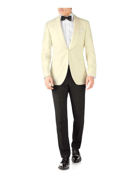 Mens Slim Fit Shawl Lapel Single Breasted Tuxedo One Button