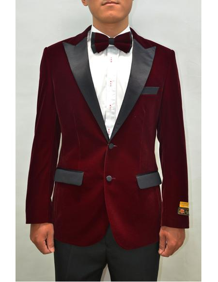 Peak Lapel Fashion Smoking Casual Velour Cocktail Tuxedo Mens blazer Jacket