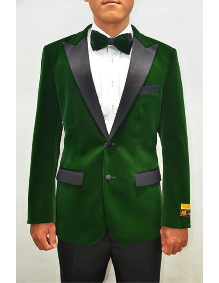 Peak Lapel Fashion Smoking Casual Velour Cocktail Tuxedo velour Men's blazer Jacket