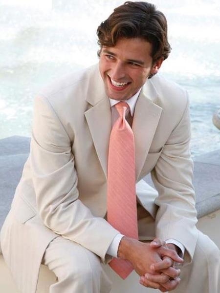 Mens Light Tan ~ Beige 2 Button Wedding Suit Separate Any Size Jacket & Pants