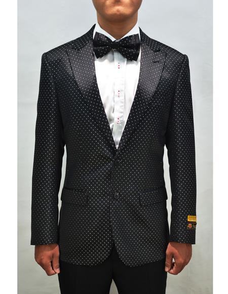 Black Men's Floral Fancy Fashion Paisley Blazer
