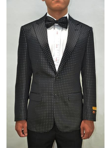 Black Polka Dot Alberto Nardoni Unique Mens Floral