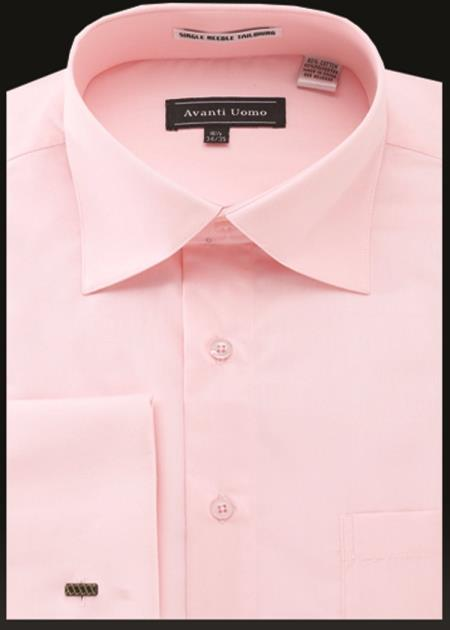 Men's Avanti Uomo French Cuff Shirt Pink