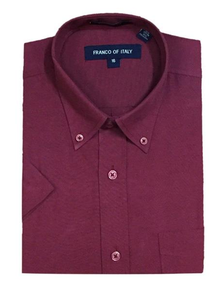 Cotton Blend ~ Button-Down Point Collar