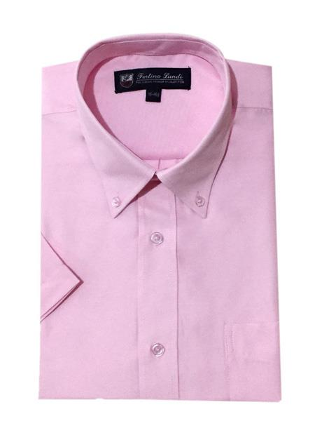 One Chest Pocket Oxford Pink