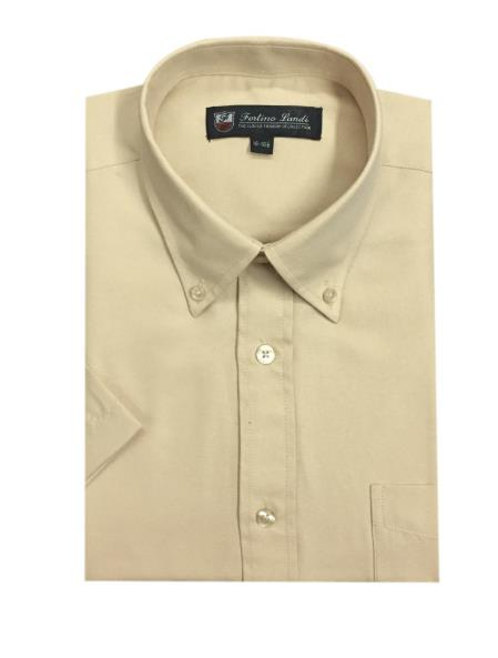 Button Down Oxford Khaki Short
