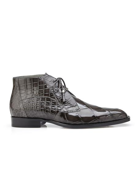 Mens Grey Belvedere shoes Italian Cushion Insole Cap Toe