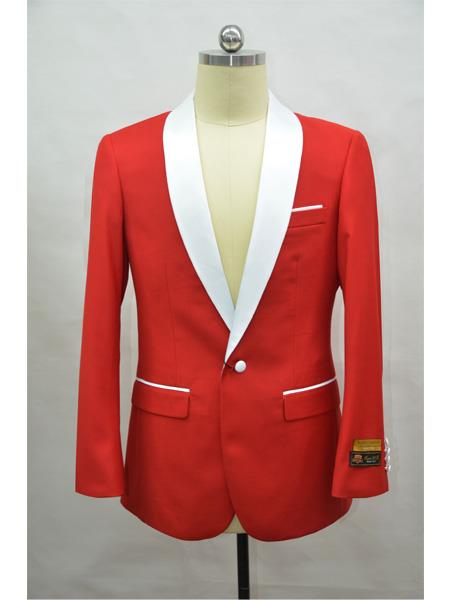 Mens Cheap Priced Blazer Jacket For Men  Red ~ White Tuxedo Dinner Jacket and Cheap Blazer Jacket For Men Two Toned