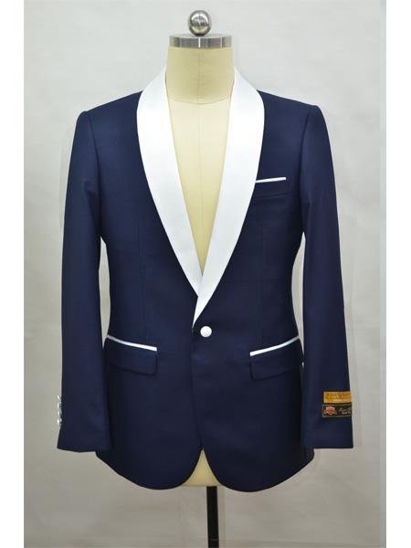 Men's Blazer  NavyBlue ~ White Tuxedo Dinner Jacket and Blazer Two Toned