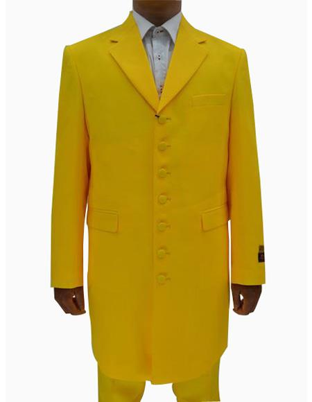 Mens Yellow ~ Gold ~ Mustard Single Breasted Seven Button Zoot Suits