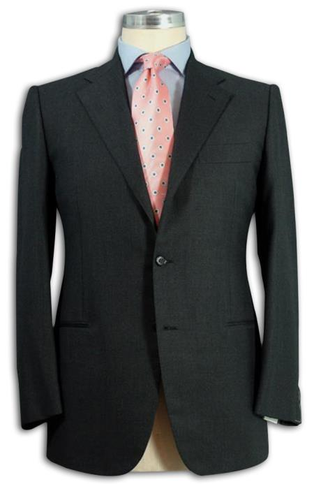 SKU# ANACH202 Mens 2 Button Darkest Charcoal Gray Dress Wool Business ~ Wedding 2 piece Side Vented Suit