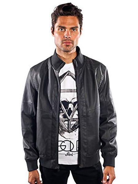 Mens Barabas Dodge Regular Fit Grey Jacket