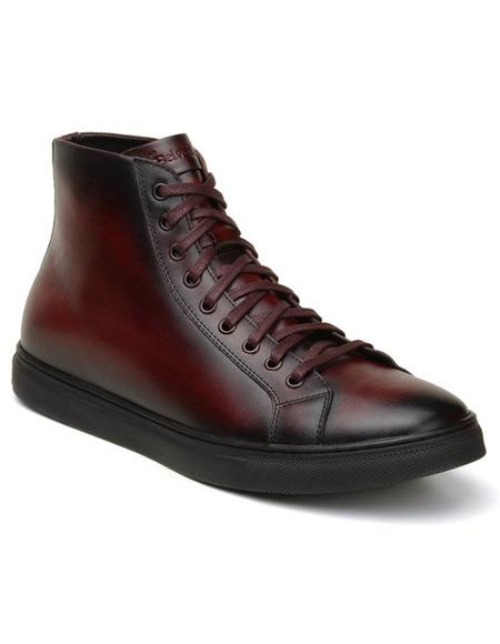 Mens Authentic Lace Up Burgundy belvedere Tennis Dress Sneaker Shoes