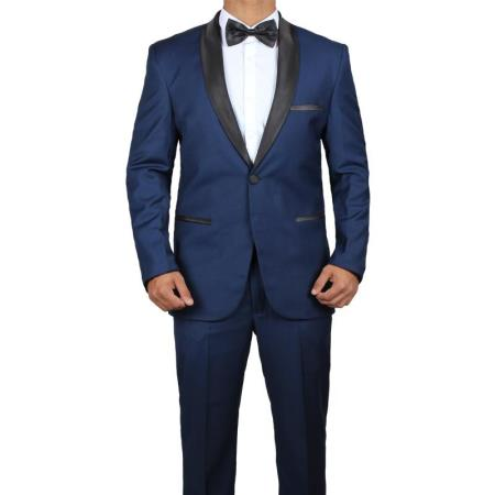 Men's James Bond Outfit Midnight Blue Tuxedo Skyfall