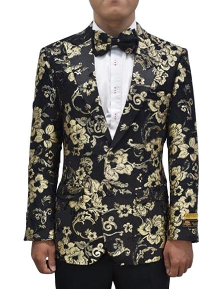 Cheap Priced Men's Printed Unique Patterned Print Floral Tuxedo Flower Jacket Prom custom celebrit
