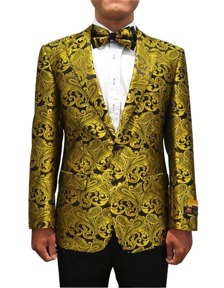 Cheap Men's Printed Unique Patterned Print Floral Tuxedo Flower Jacket Prom custom ce