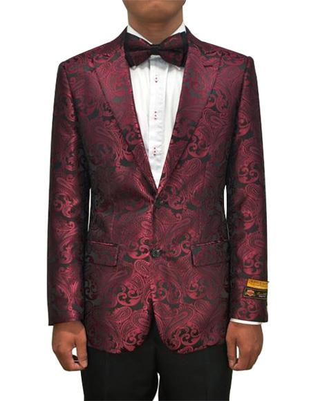 Cheap Mens Printed Unique Patterned Print Floral Tuxedo Flower Jacket Prom custom ce