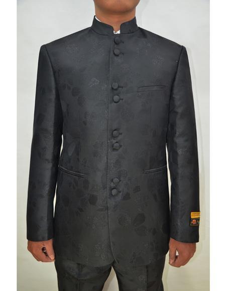 Black Groom Wedding Indian Nehru Suit