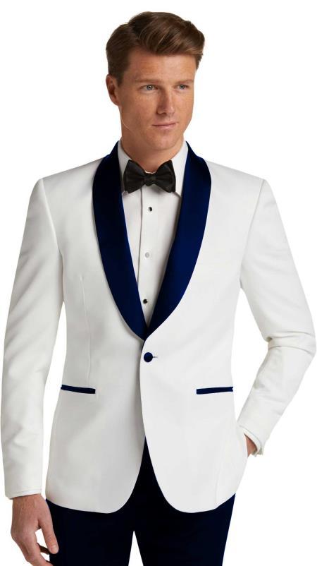 Mens Single Breasted Dark Navy Slim Fit Tuxedo Dinner Jacket