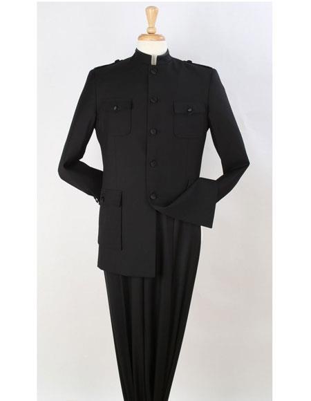 Apollo King Suit Men's Safari Suit Mandarin Collar less Style Fashion Suit