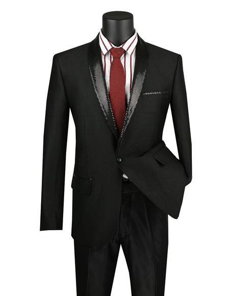 Vinci Men Sport Coat BSQ-3-Black