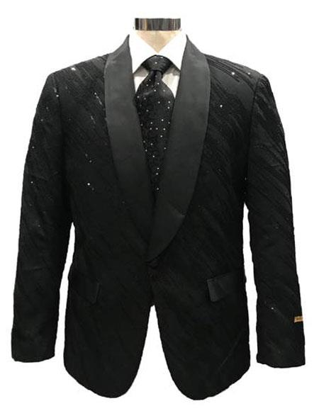 Men's Black Cheap Priced Designer Fashion Dress Casual Blazer On Sale One Button Blazer