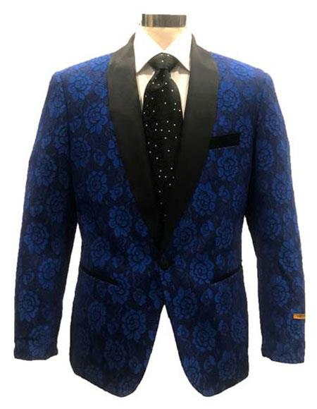 Men's Blue ~ Black Cheap Priced Designer Fashion Dress Casual Blazer On Sale Shawl Lapel Blazer