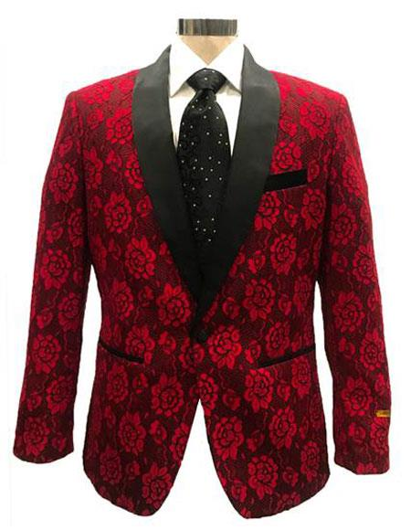 Men's One Button Red ~ Black Cheap Priced Designer Fashion Dress Casual Blazer On Sale Cheap Priced Blazer Jacket For Men