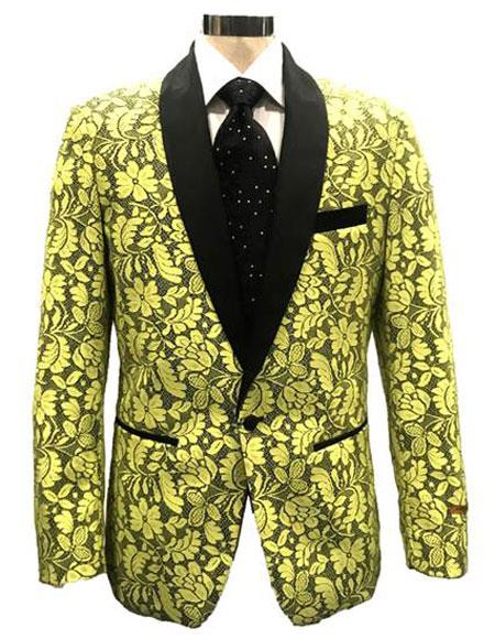 Yellow Tuxedo Dinner Jacket Blazer