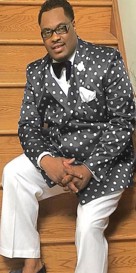 Alberto Nardoni Double breasted Navy Blue or Black and White Patter Polk Dot Sport Coat Jacket Blaze
