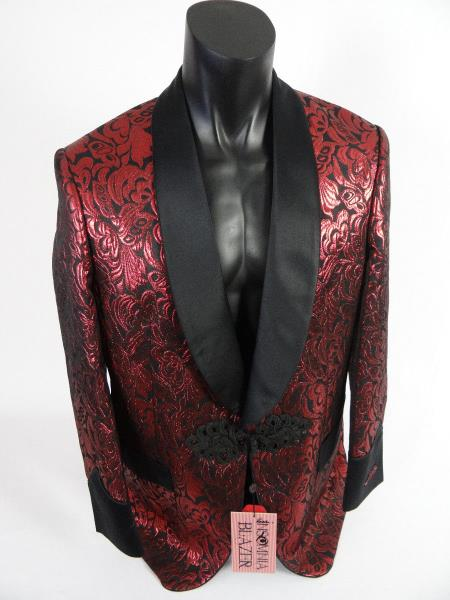 Mens Cheap Priced Designer Fashion Dress Casual Blazer On Sale Shawl Lapel Jacket Cheap Priced Blazer Jacket For Men Red Black