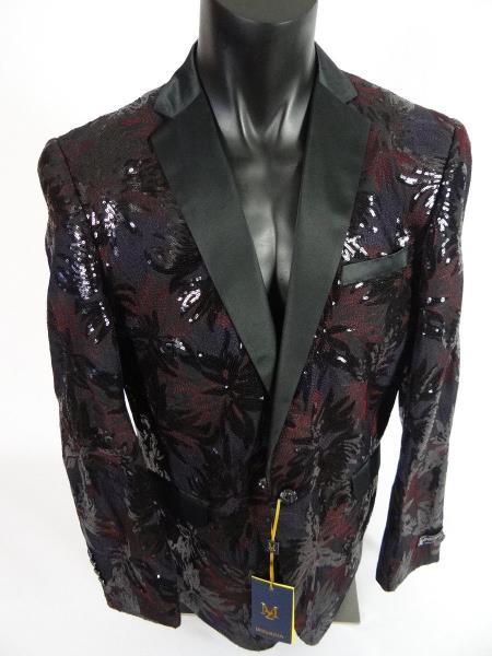 Mens Blazer Sport Coat  Shawl Lapel Jacket Yellow Black