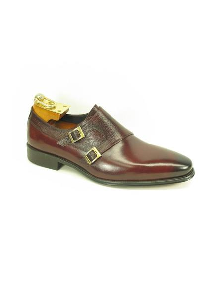 Men's Fashion Shoes by Carrucci - Double Buckle Ox-Blood