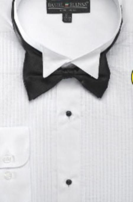 SKU#EF123 Mens Wing Tip Tuxedo Shirt with Bow Tie