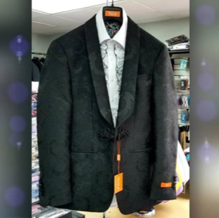 Men's Shawl Lapel Black Suit