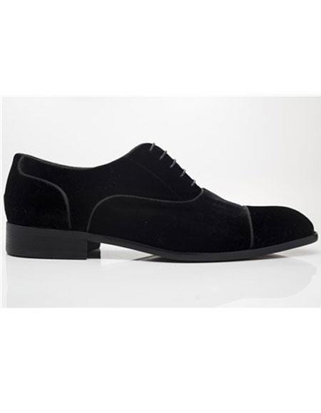 Men's Carrucci Lace Up Black Dress Shoe