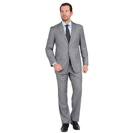 Mens  Two Button Gray Suit