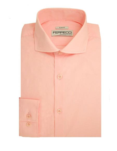 Mens Slim Fit poly ~ cotton fabric French Cuff Dress Shirt