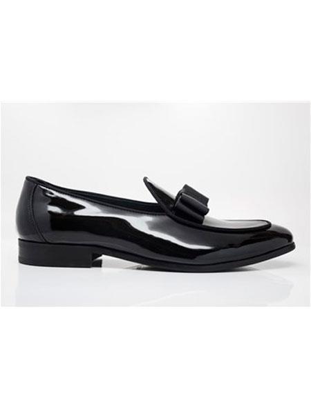 Men's Tuxedo Shoes Cap Toe Grosgrain Trim & Clean Welt Black Dress Shoe Perfect for Men's Prom Shoe and Wedding