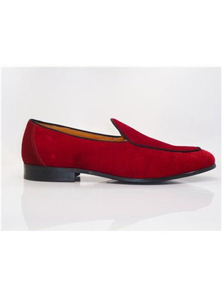 Carrucci Red Shoe For Men Perfect for Wedding Tuxedo Dress
