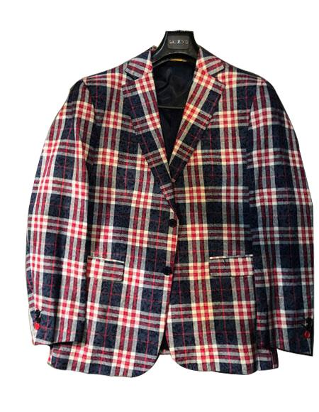 1950s Mens Suits & Sport Coats | 50s Suits & Blazers Mens Plaid  Window Pane Blazer Sport Coat $149.00 AT vintagedancer.com