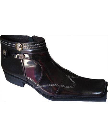 Mens Burgundy  Zota Mens Unique Dress Shoes Unique Zota Mens Dress Shoe Leather