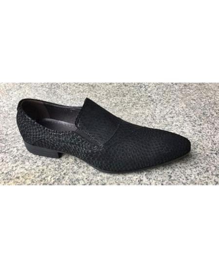Men's Black Slip On Unique Zota Men's Dress Shoe