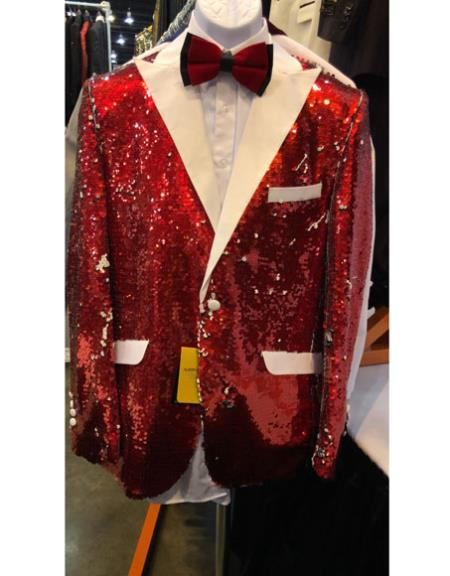 Mens Red Cuff Link One Button Cheap Priced Designer Fashion Dress Casual Blazer On Sale Blazer