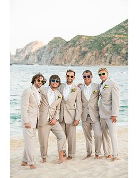 Mens Beach Wedding Attire.Mens Beach Wedding Attire Suit Menswear Beige 199