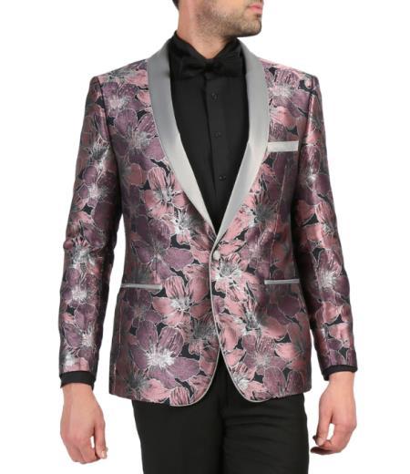 Mens Cheap Priced Designer Fashion Dress Casual Blazer On Sale Shawl Lapel Rose Tuxedo Blazer