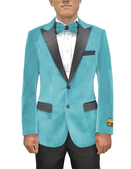 Mens Single Breasted Peak Lapel Sky Blue Two Button Mens Fancy Prom Outfit ~ Wedding Blaze