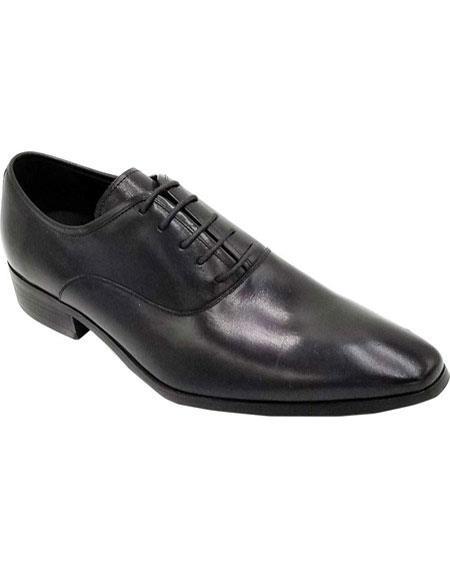 Men's Black Lace Up Unique Zota Men's Dress Shoe