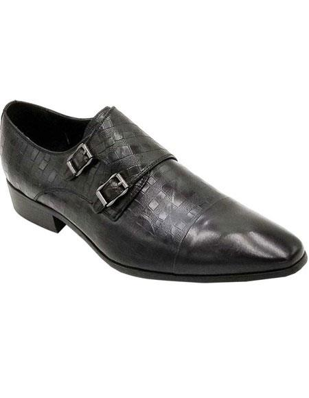 Men's Premium Soft Genuine leather Black Unique Zota Men's Dress Shoe